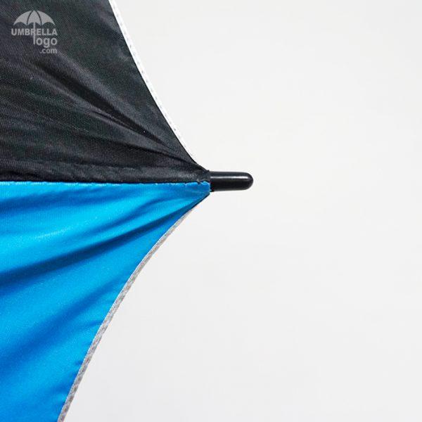 ขอบร่มสีดำสลับฟ้าเข้ม