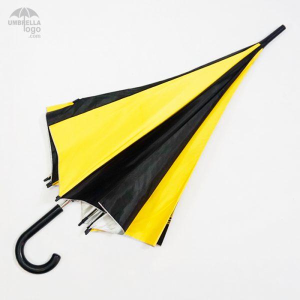 ร่มSimplelifeสีเหลืองดำ
